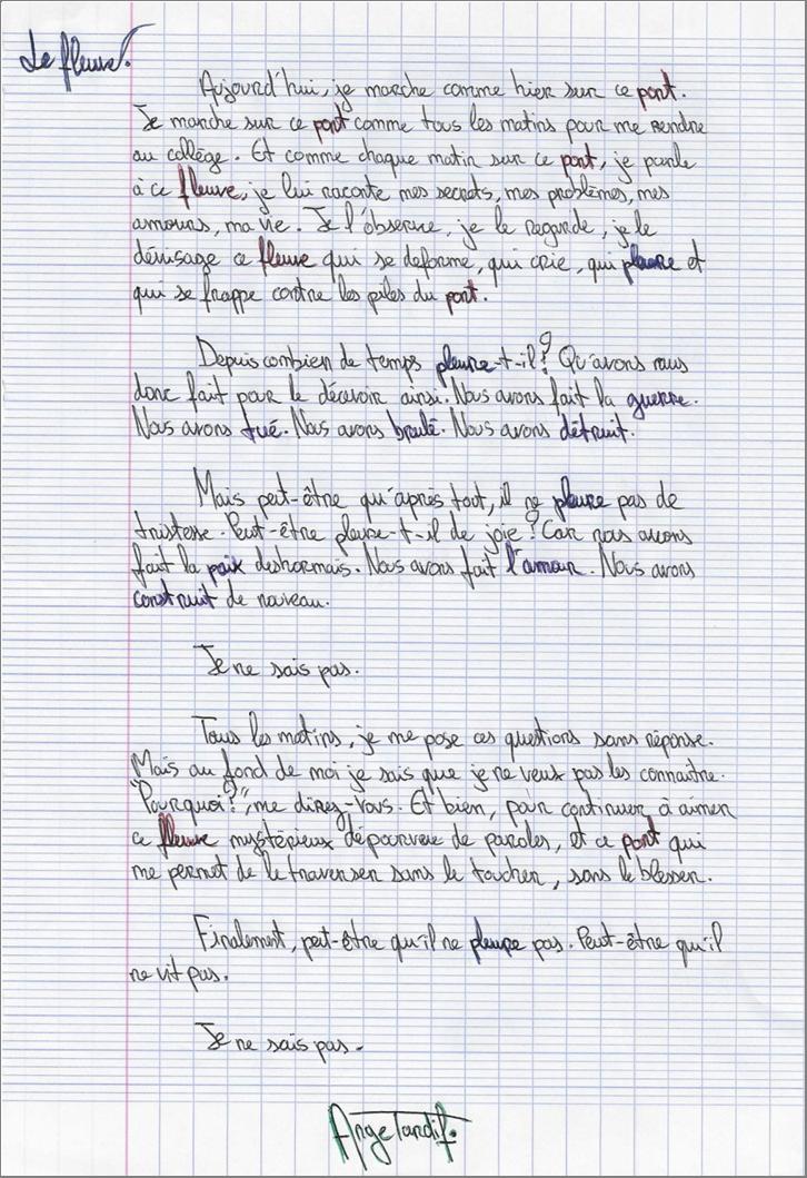 TRAVAUX  D' ECRITURE